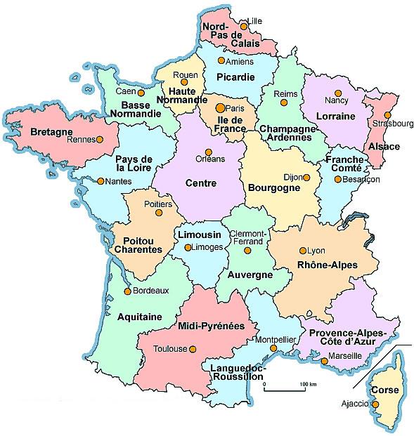 Harta Frantei Cu Regiuni Hartaeuropa